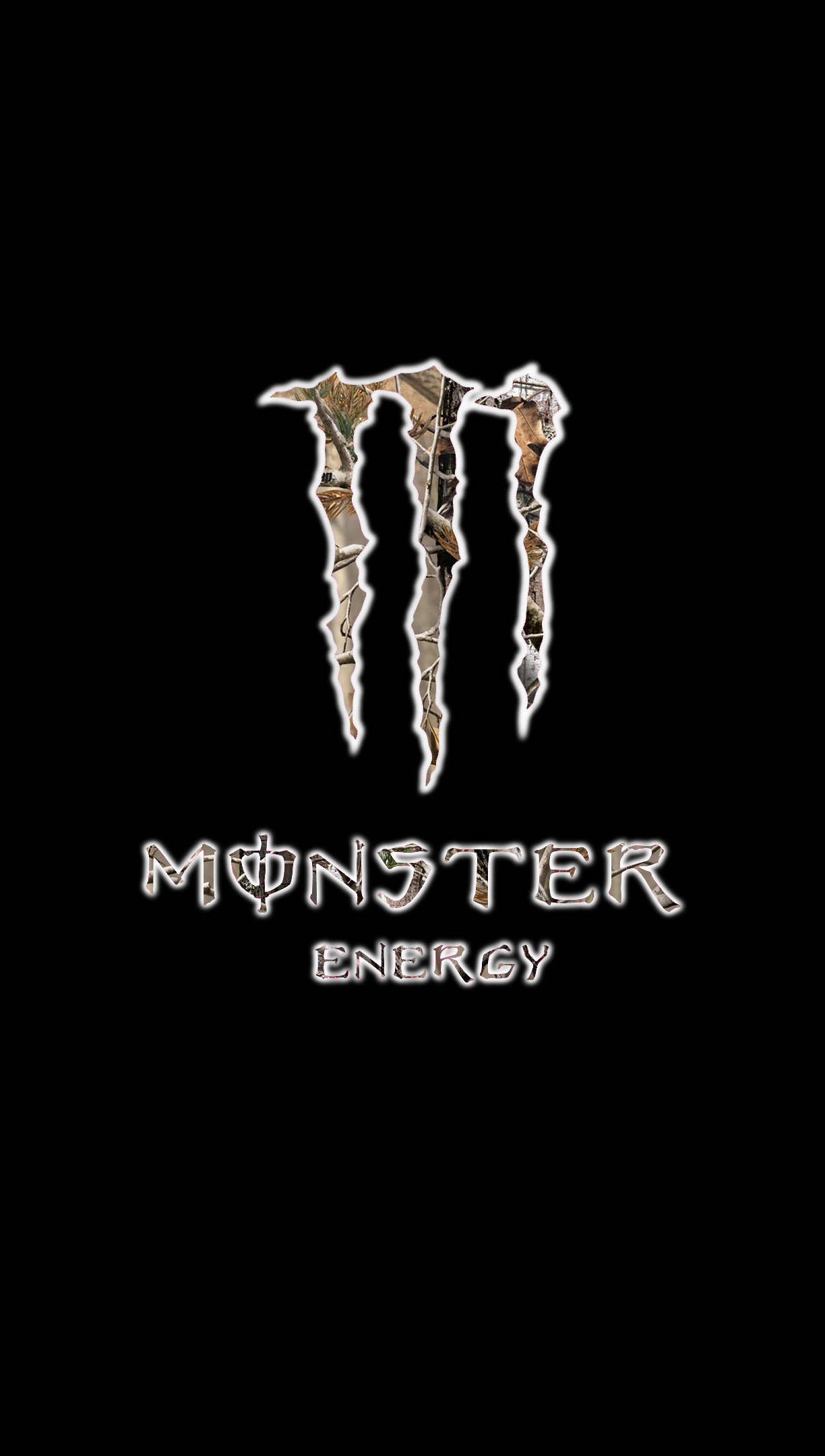 Monster Energy Logo With Realtree AP HD Scheme By