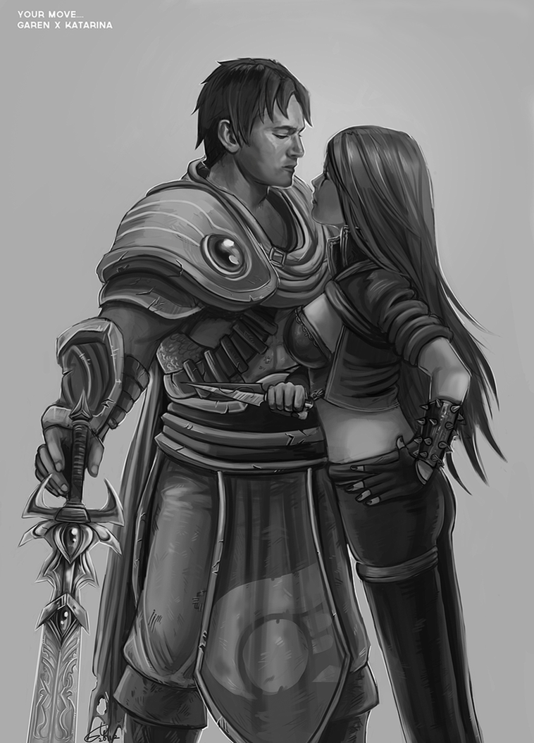 Garen and Kat - Your Move... by fivetinsoldiers