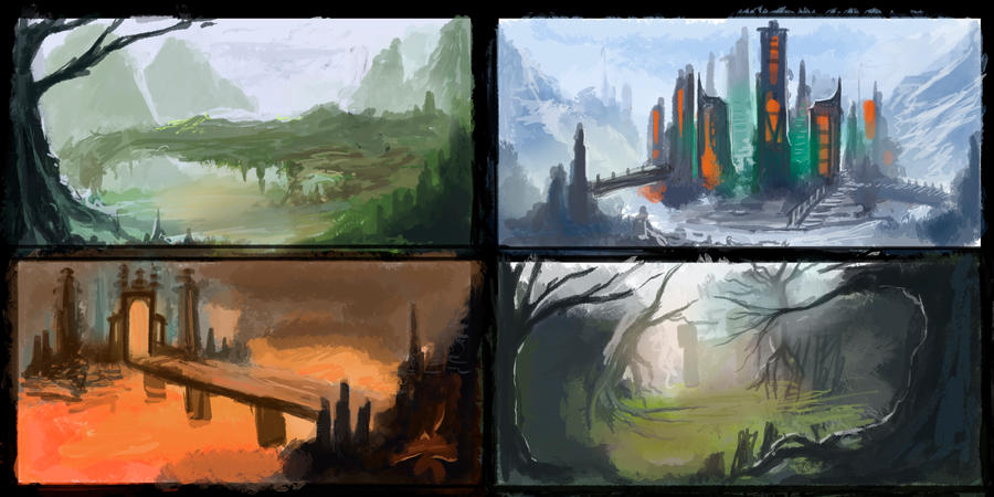 Speedpaints 2 by parkurtommo