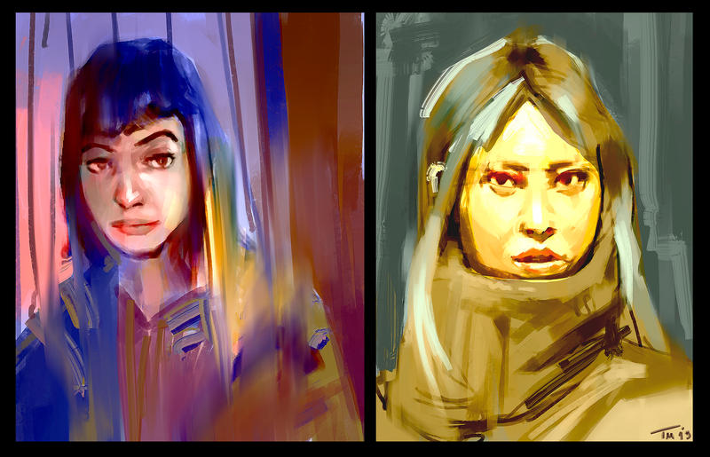 Portrait Sketches by parkurtommo