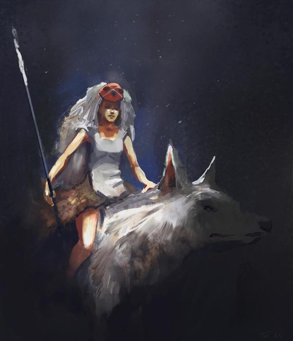 Princess Mononoke by parkurtommo