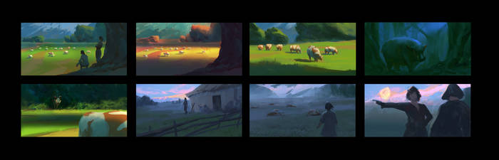 The Singing Bone Color Script Preview by parkurtommo