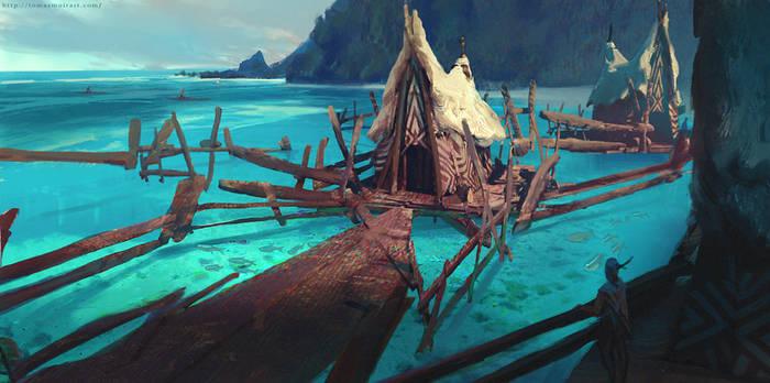 Wind - Aush floating fishing houses