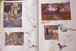 Barcelona plein air gouache sketches