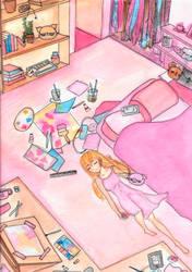 Honey's Room by Disheveledpastels