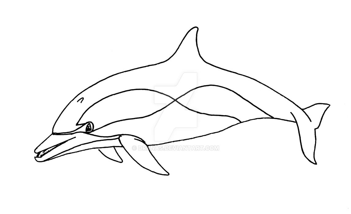Common dolphin line drawing by drknas on deviantart common dolphin line drawing by drknas thecheapjerseys Choice Image