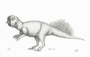 Slightly Speculative Psittacosaurus by DrawingDinosaurs