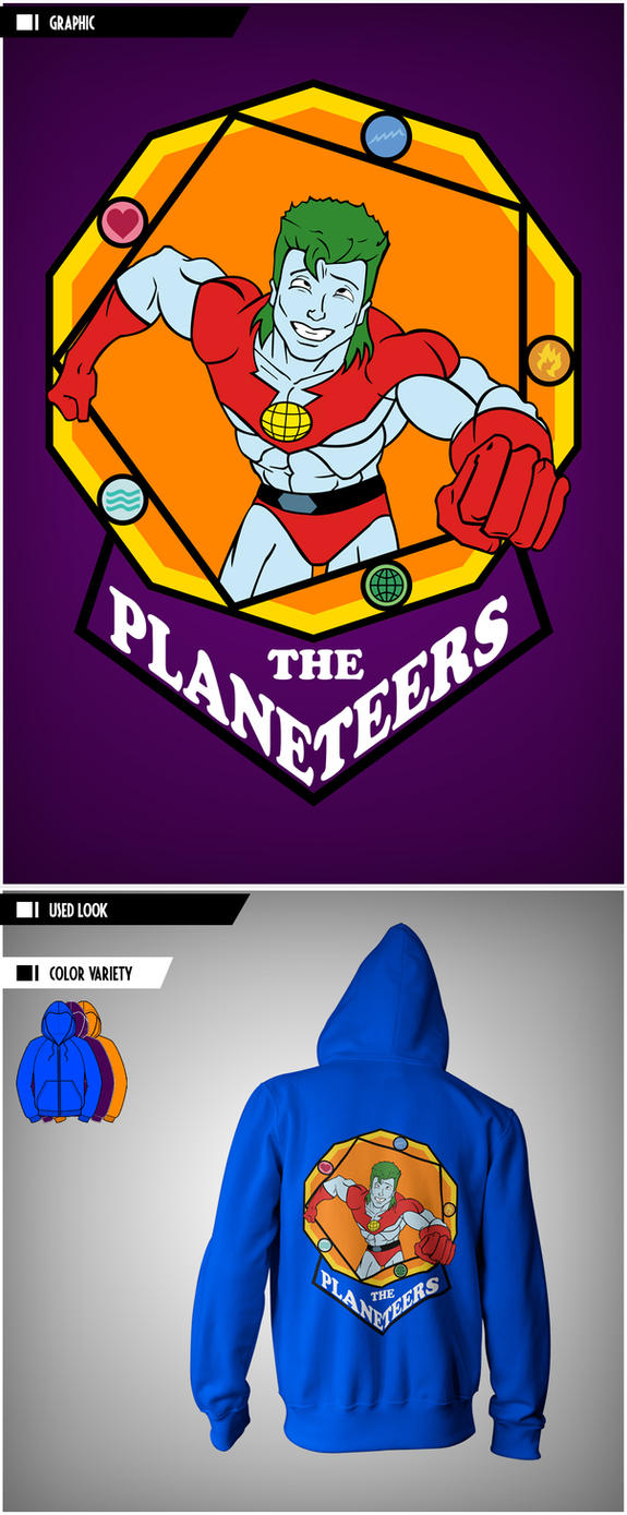 Hoodie: The Planeteers - #2 Drunk Captain Planet by VictoriousD