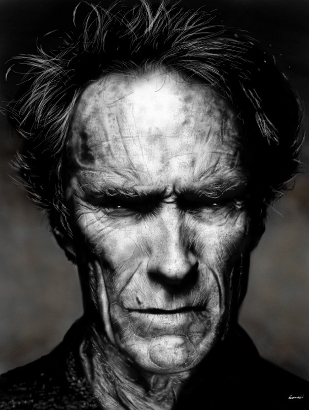 Clint Eastwood by p1xer
