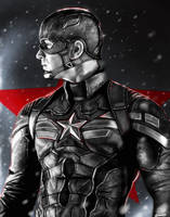 Captain America: The Winter Soldier black version. by p1xer