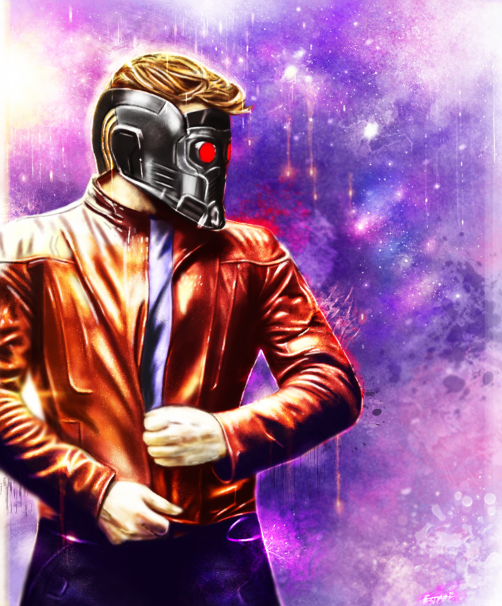 Guardians Of The Galaxy - Starlord by p1xer