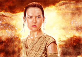 Star Wars: The Force Awakens - Rey by p1xer