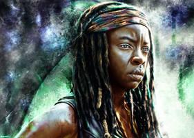 The Walking Dead - Michonne by p1xer