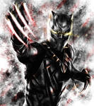 Captain America :Civil War - Black Panther bw