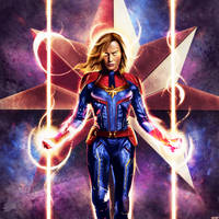 Captain Marvel by p1xer