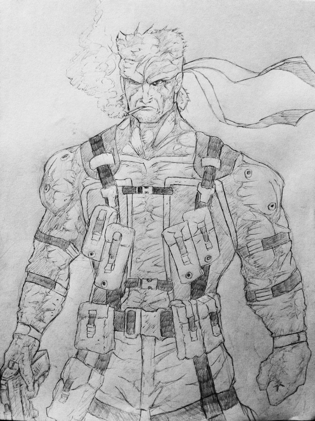 Solid Snake Mgs2 By Diegoe05 On Deviantart