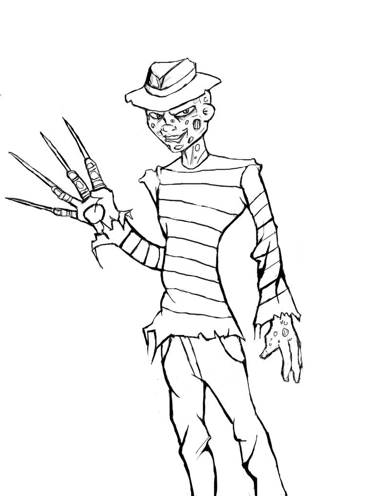 Freddy kruger coloring pages ~ Freddy Kruger Cartoon Coloring Page Coloring Pages
