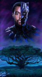 Black Panther Chadwick Boseman Tribute by DiegoE05