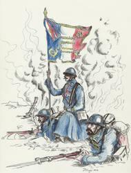 WW1 1918 French infantry