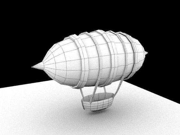 Mini zeppelin 3d by SFalkon