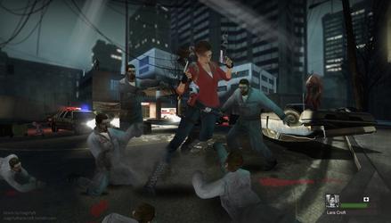 Lara Croft in L4D