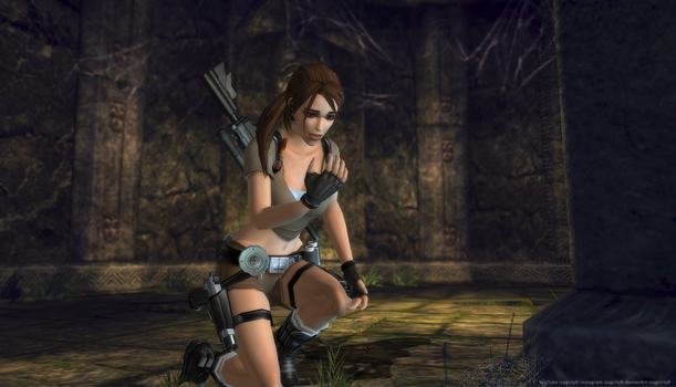 Lara Croft TRL ...That wasn't supposed to be here!