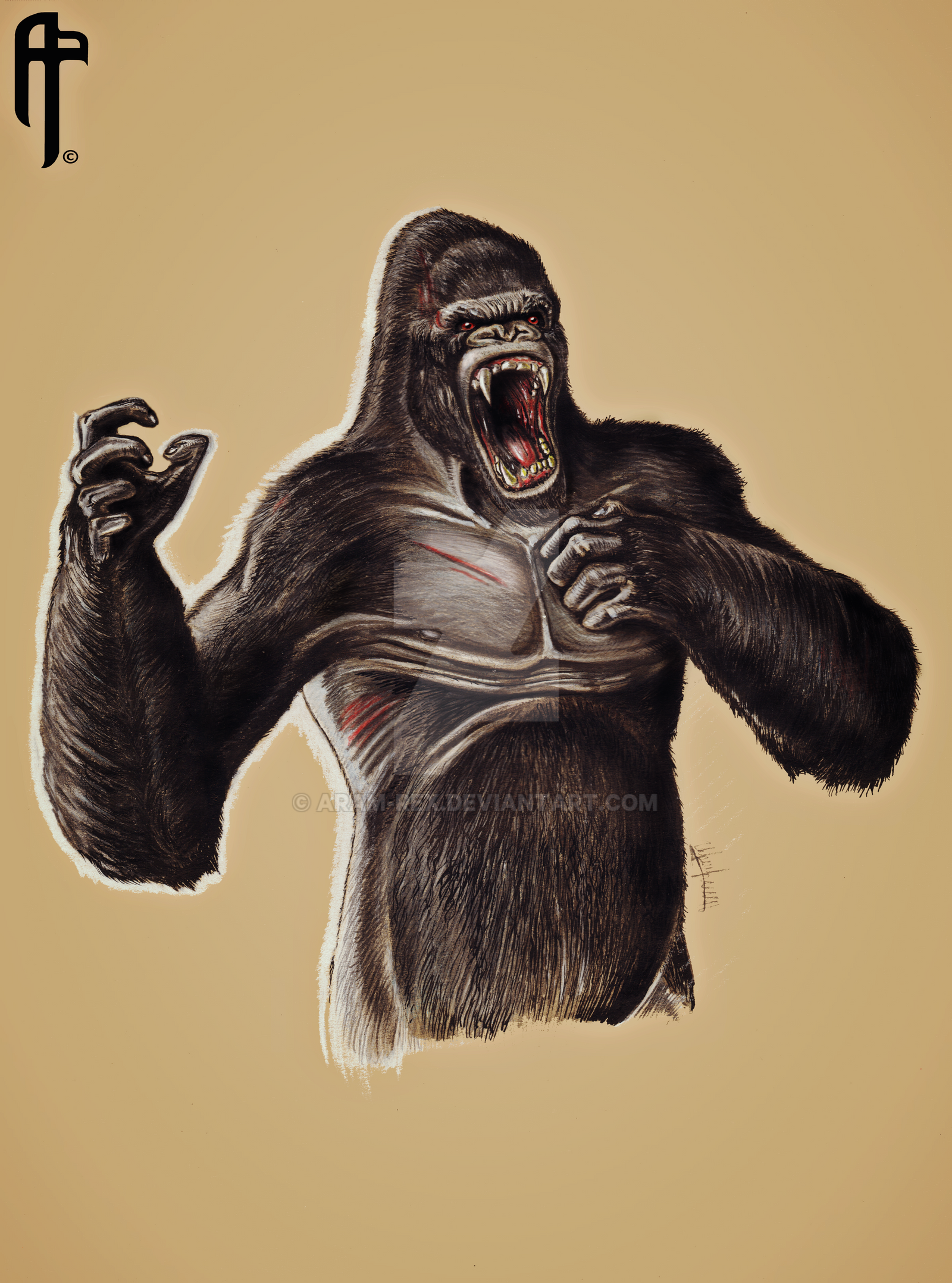 Kong Reigns Supreme King Kong Drawing By Aram Rex On Deviantart
