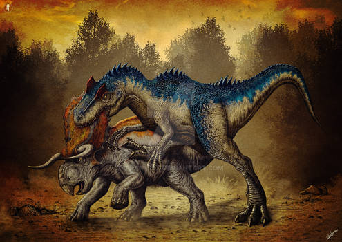 Allosaurus vs Nasutoceratops