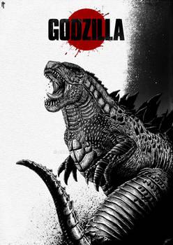 Godzilla 2014 Digital Poster
