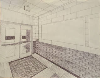 Cross hatching 2 point perspective by EBOLAFIED