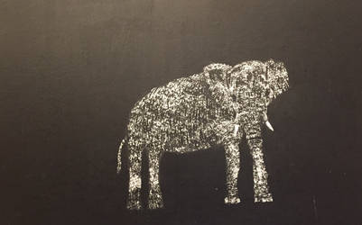 Elephant scratch art by EBOLAFIED