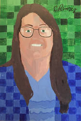 Teacher portrait drawing/painting  by EBOLAFIED