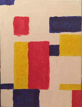 Mondrian painting (Sean Scully Style) by EBOLAFIED