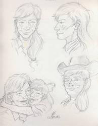 Cowgirl Applejack Sketch dump by Adan-Cricjer