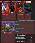 Commission Price Guide - 2018 by DasChocolate