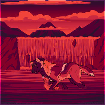 WoLF: Sunset Bonding by DasChocolate
