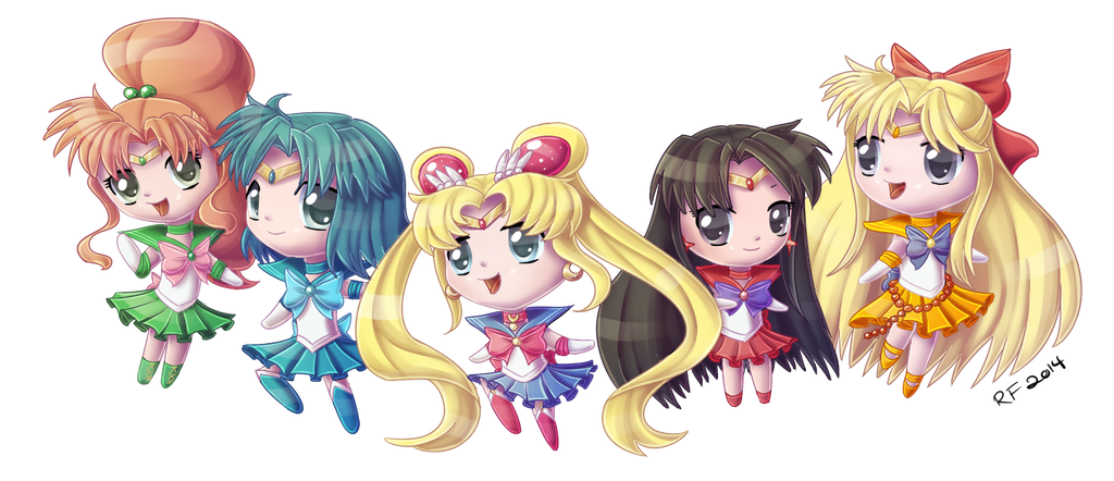 Sailor Moon and the Inner Senshi - Commission by Alidythera