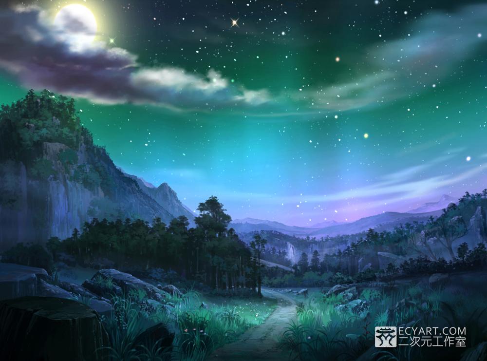Night sky by Ecystudio