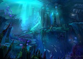 Background:undersea city by Ecystudio