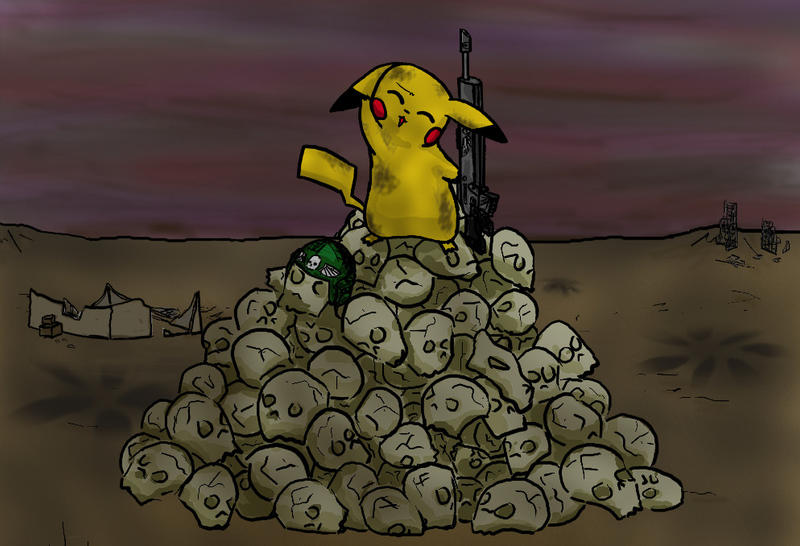 Humour 40K NEVER_give_pikachu_a_lasgun_by_opiel16