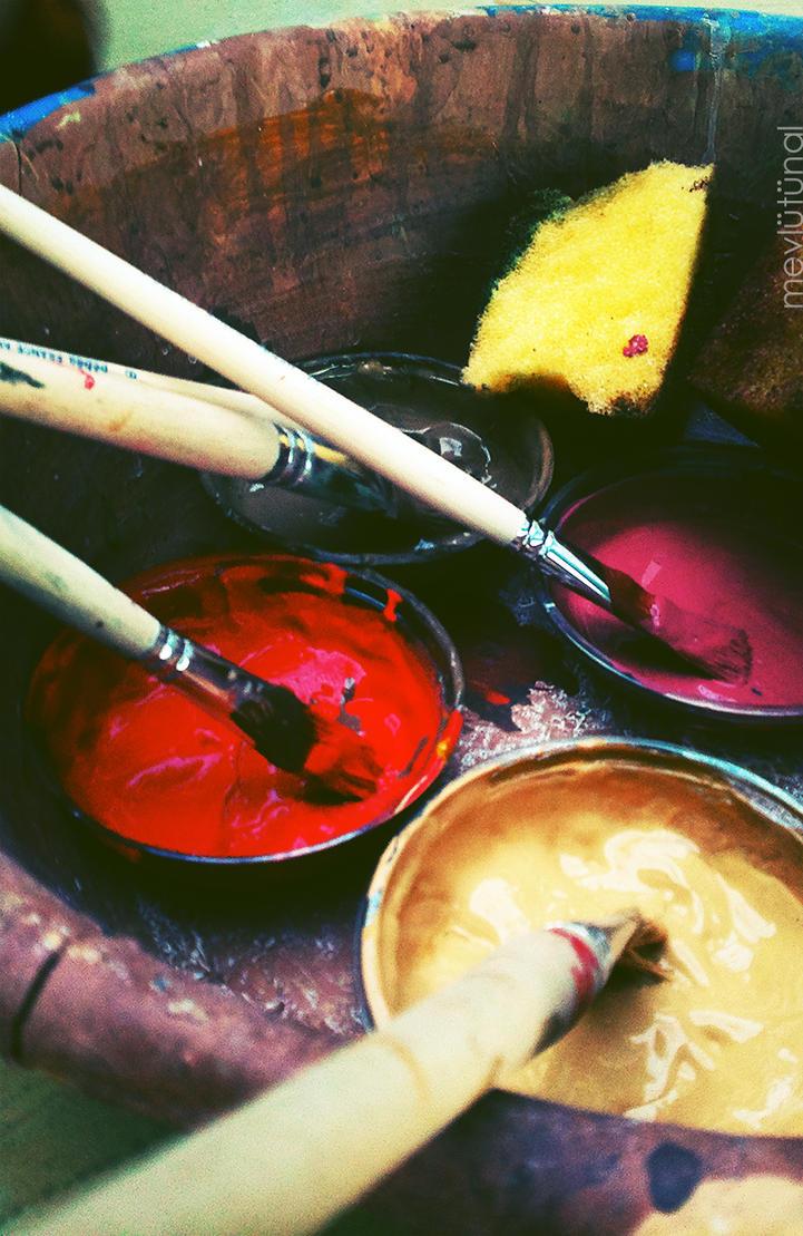 Paint cups by eskitenekekutu
