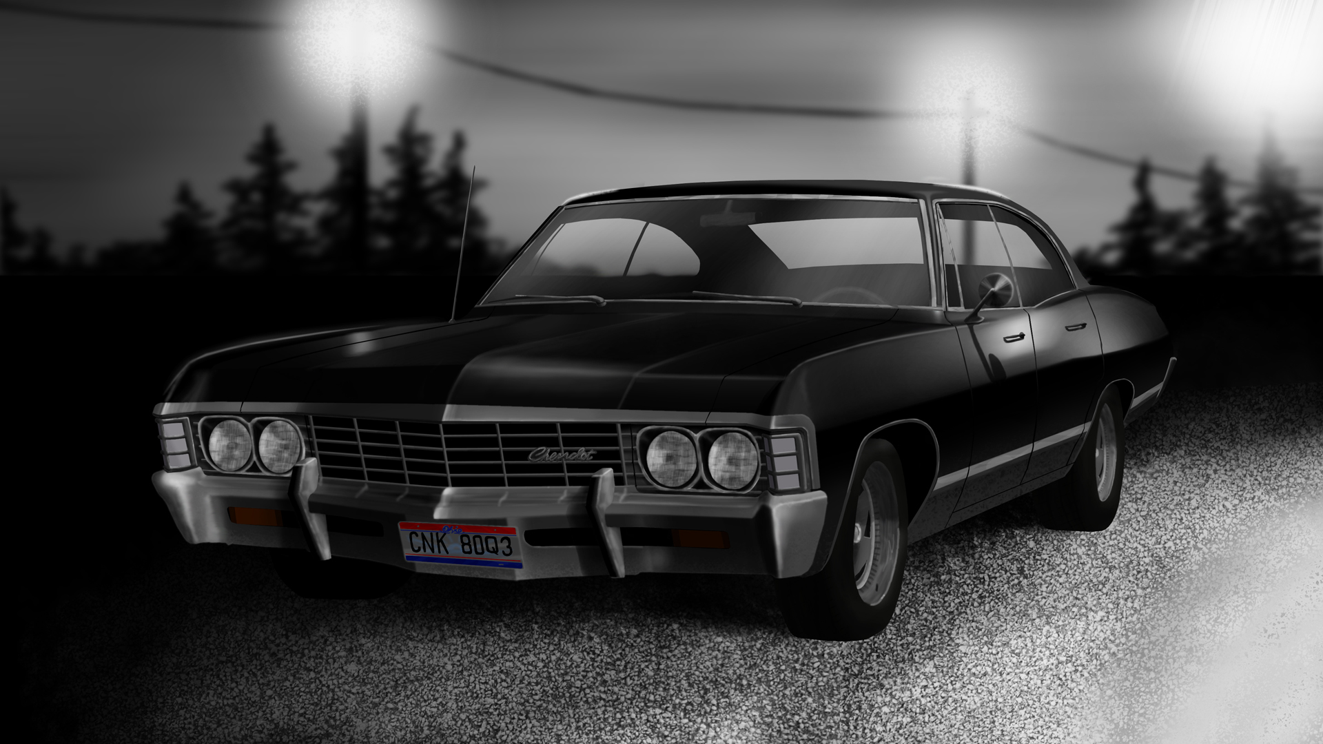 supernatural car impala wallpaper - photo #8