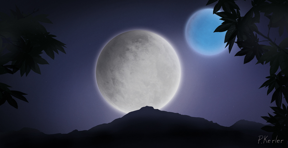 twin moons - photo #4