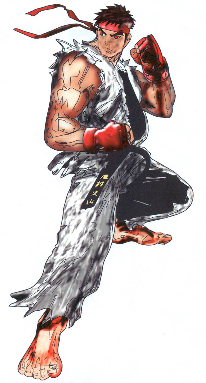 Shadow759 Evil Ryu Drawing By Shadow759 On Deviantart