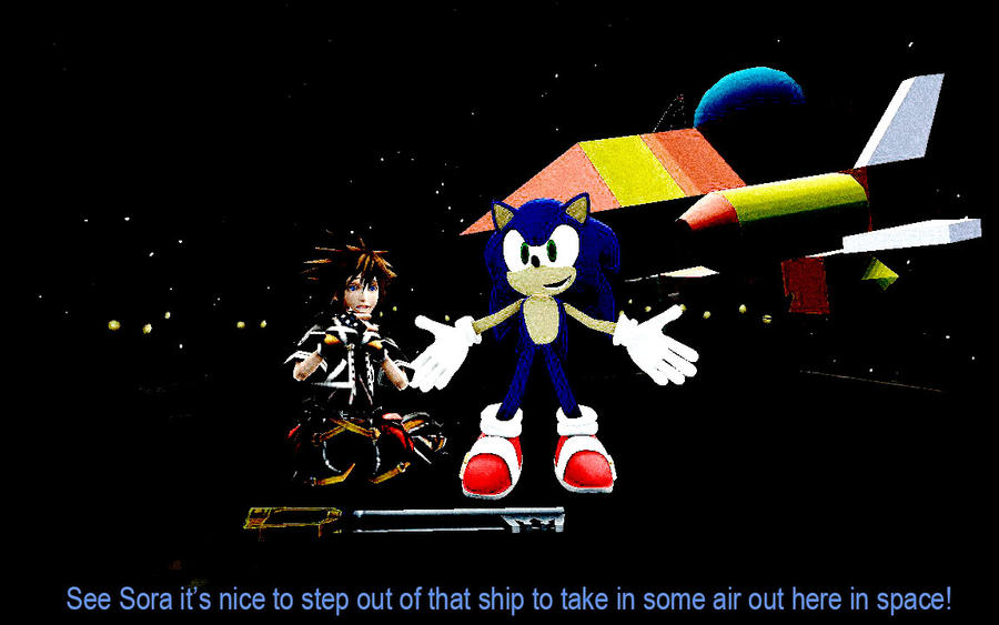 Heartless Sonic Characters Sora And Sonic In Spac...
