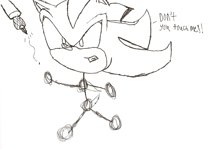 how to draw sonic and shadow the hedgehog