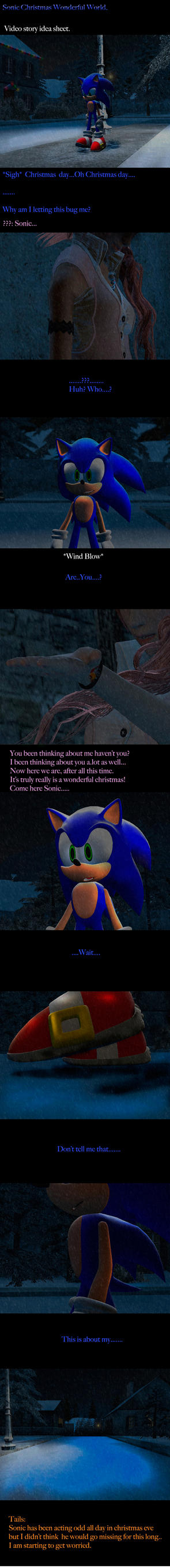Sonic The Hedgehog Christmas Wonderful World by shadow759