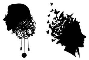Steampunk silhouettes