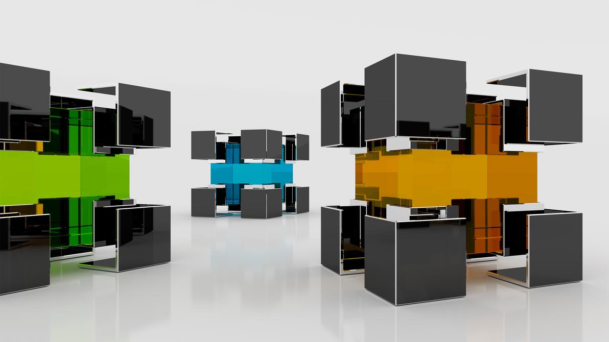 Encapsulated Cubes (4k) by Dario999