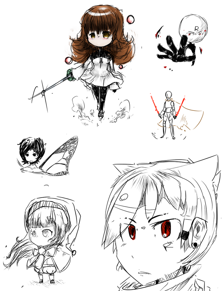 Doodles With Deemo by Romanlegend3